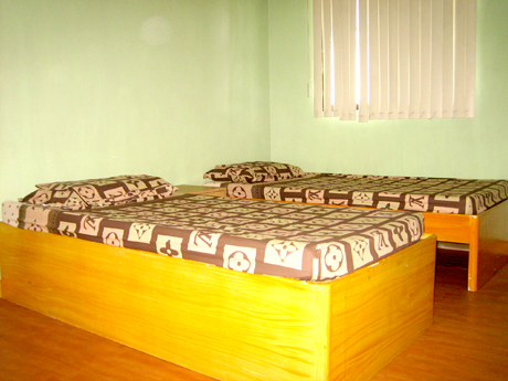 Each room has 2 clean and comfortable beds complete with  pillows and linens.